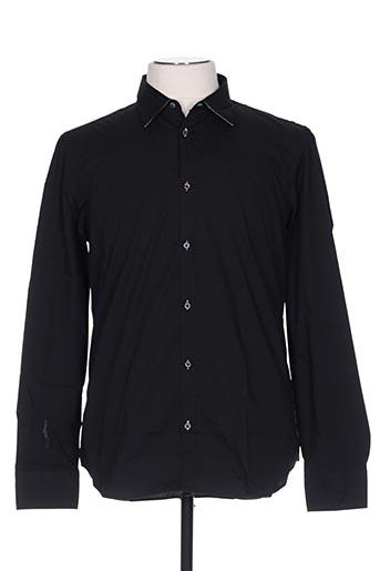 Chemise manches longues noir MANUEL RITZ pour homme