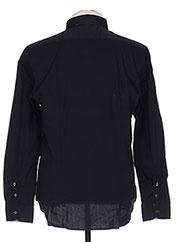 Chemise manches longues noir MANUEL RITZ pour homme seconde vue