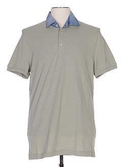 Polo manches courtes gris DELLA CIANA pour homme