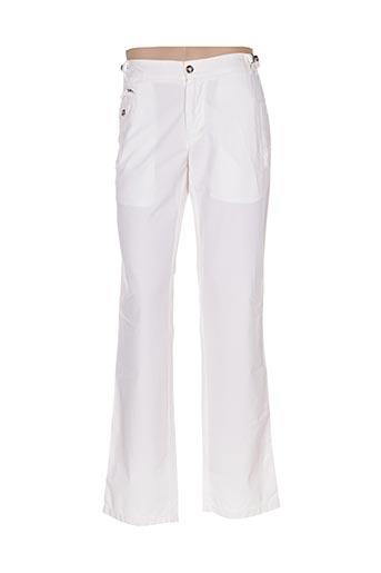 Pantalon casual blanc PAL ZILERI pour homme
