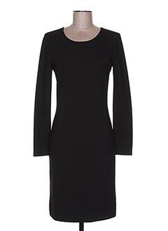 Robe mi-longue noir GAOS pour femme