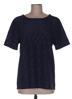 T-shirt manches courtes bleu CACHE CACHE pour femme