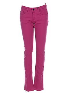 Pantalon casual rose SORRY 4 THE MESS pour fille