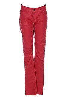 Pantalon casual rouge IKKS pour fille