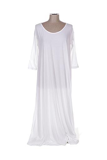 Robe longue blanc CROSSLEY pour femme