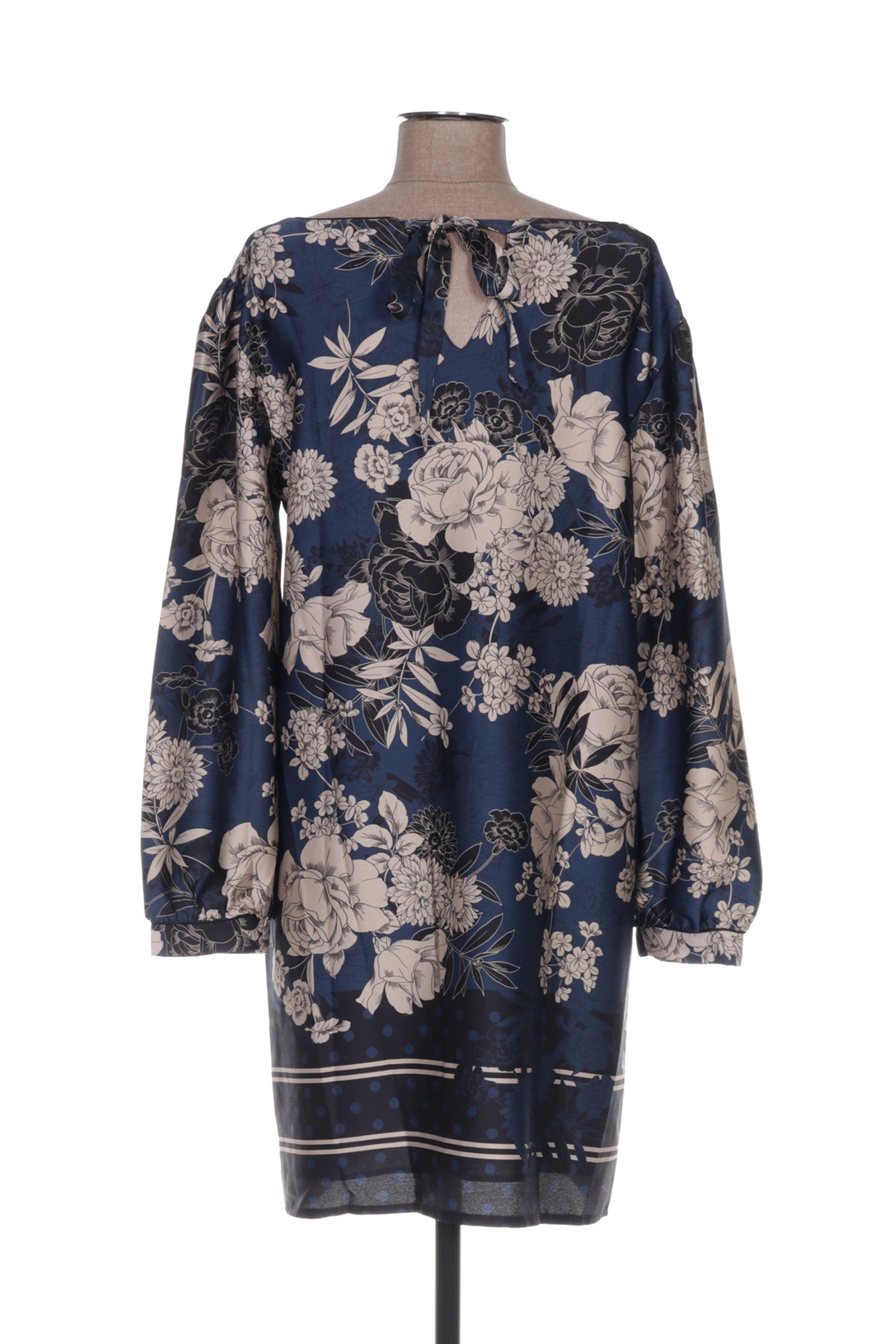 La Fee Maraboutee Robes Mi Longues Femme De Couleur Bleu En Soldes Pas Cher 1357669-bleu00