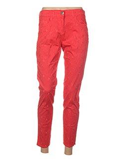 Pantalon 7/8 rouge E.D pour femme