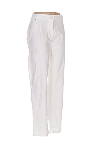 Pantalon casual blanc CARMEN pour femme