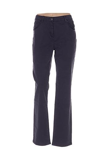 Pantalon casual bleu CARMEN pour femme