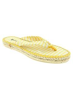 Tongs jaune ESPANILLAS pour femme