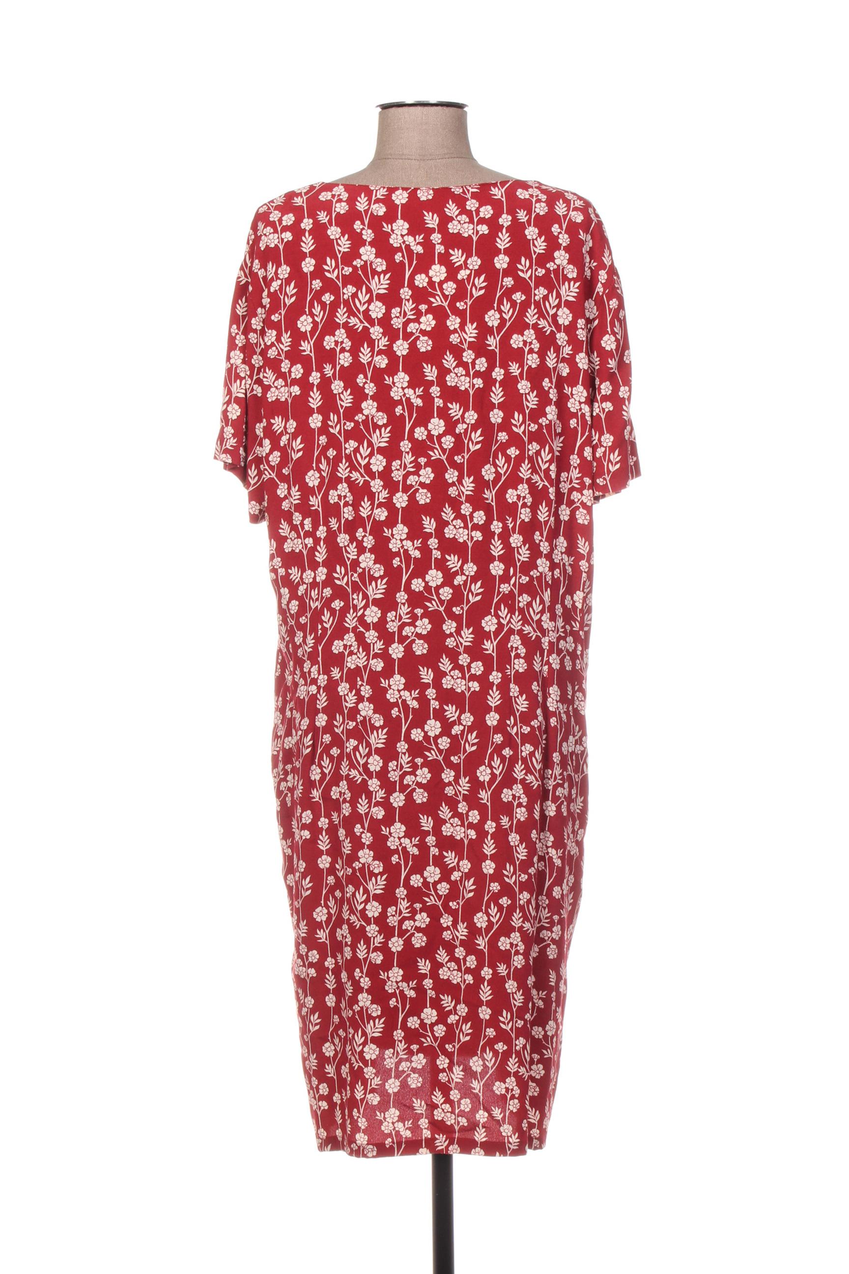 Nice Things Robes Mi Longues Femme De Couleur Rouge En Soldes Pas Cher 1362070-rouge0
