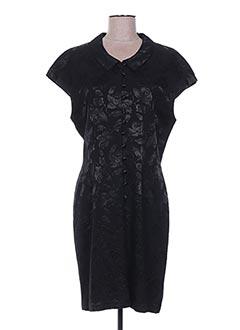 Robe mi-longue noir GARDENIA pour femme