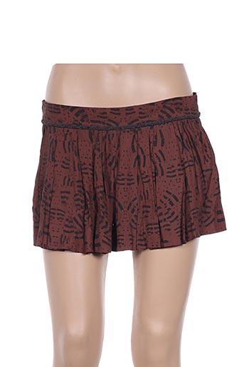 Mini-jupe marron EMA TESSE pour femme
