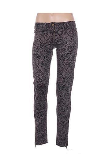 Pantalon casual gris EMA TESSE pour femme