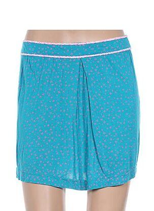 Jupe courte bleu EMA TESSE pour femme