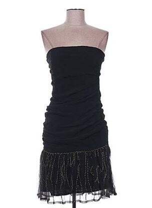Robe mi-longue noir EMA TESSE pour femme