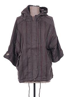 Veste casual gris EMA TESSE pour femme