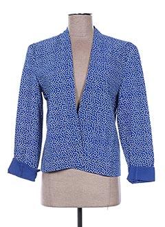 Veste chic / Blazer bleu EMA TESSE pour femme