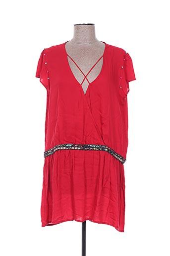 Robe courte rouge EMA TESSE pour femme