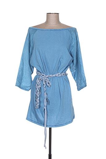 Tunique manches longues bleu EMA TESSE pour femme