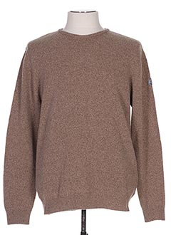 Pull col rond marron SERGE BLANCO pour homme