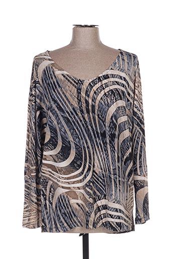 T-shirt manches longues marron AN II VITO pour femme