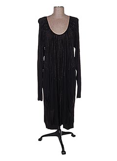 Robe mi-longue noir ONE STEP pour femme
