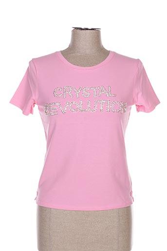 T-shirt manches courtes rose ETINCELLE pour femme