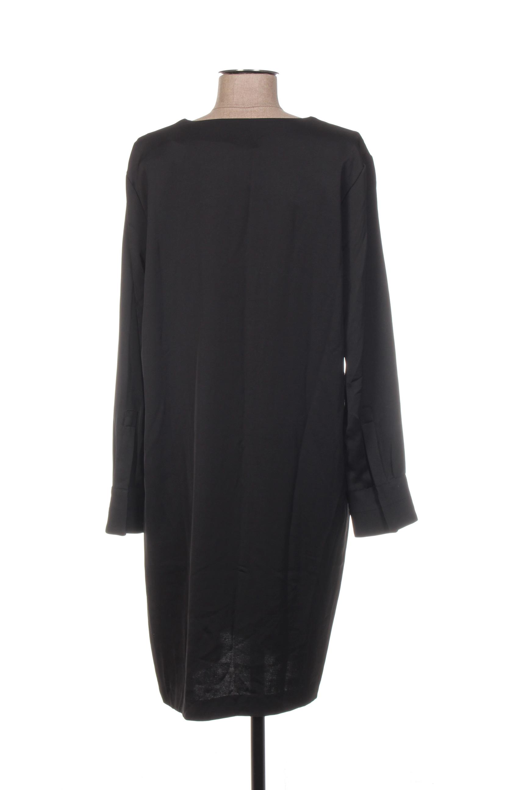 Yaya Robes Mi Longues Femme De Couleur Noir En Soldes Pas Cher 1377685-noir00