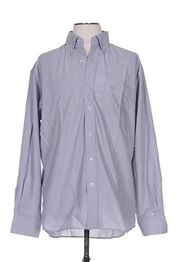 Chemise manches longues bleu ALLONA pour homme