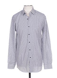 Chemise manches longues bleu PIERRE CARDIN pour homme