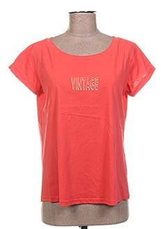 T-shirt manches courtes orange GARANCE pour femme