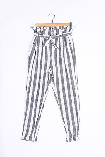 Pantalon chic gris BERSHKA pour femme