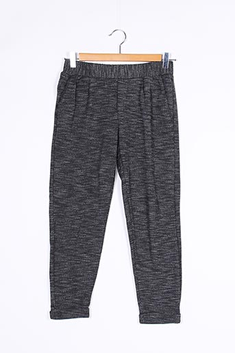Pantalon casual gris BERSHKA pour femme