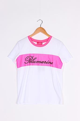 T-shirt manches courtes blanc BLUMARINE pour femme
