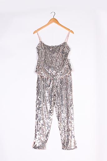 Top/pantalon gris MAJORELLE pour femme