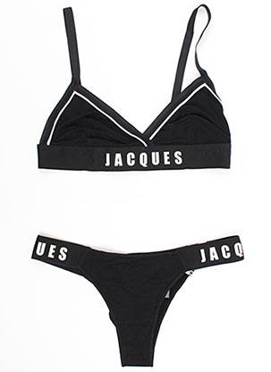 Ensemble lingerie noir SLEEPING WITH JACQUES pour femme