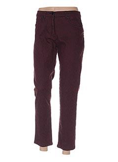 Pantalon 7/8 rouge CHRISTINE LAURE pour femme