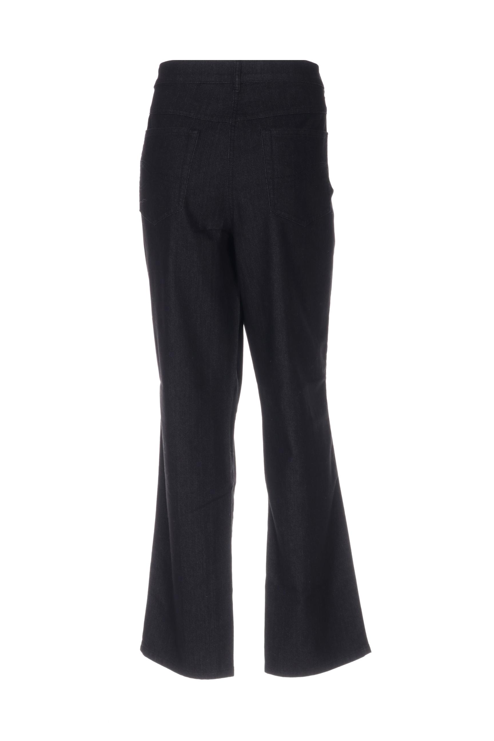 Lebek Pantalons Decontractes Femme De Couleur Noir En Soldes Pas Cher 1377217-noir00