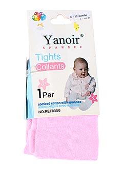 Collants rose YANOIR pour fille