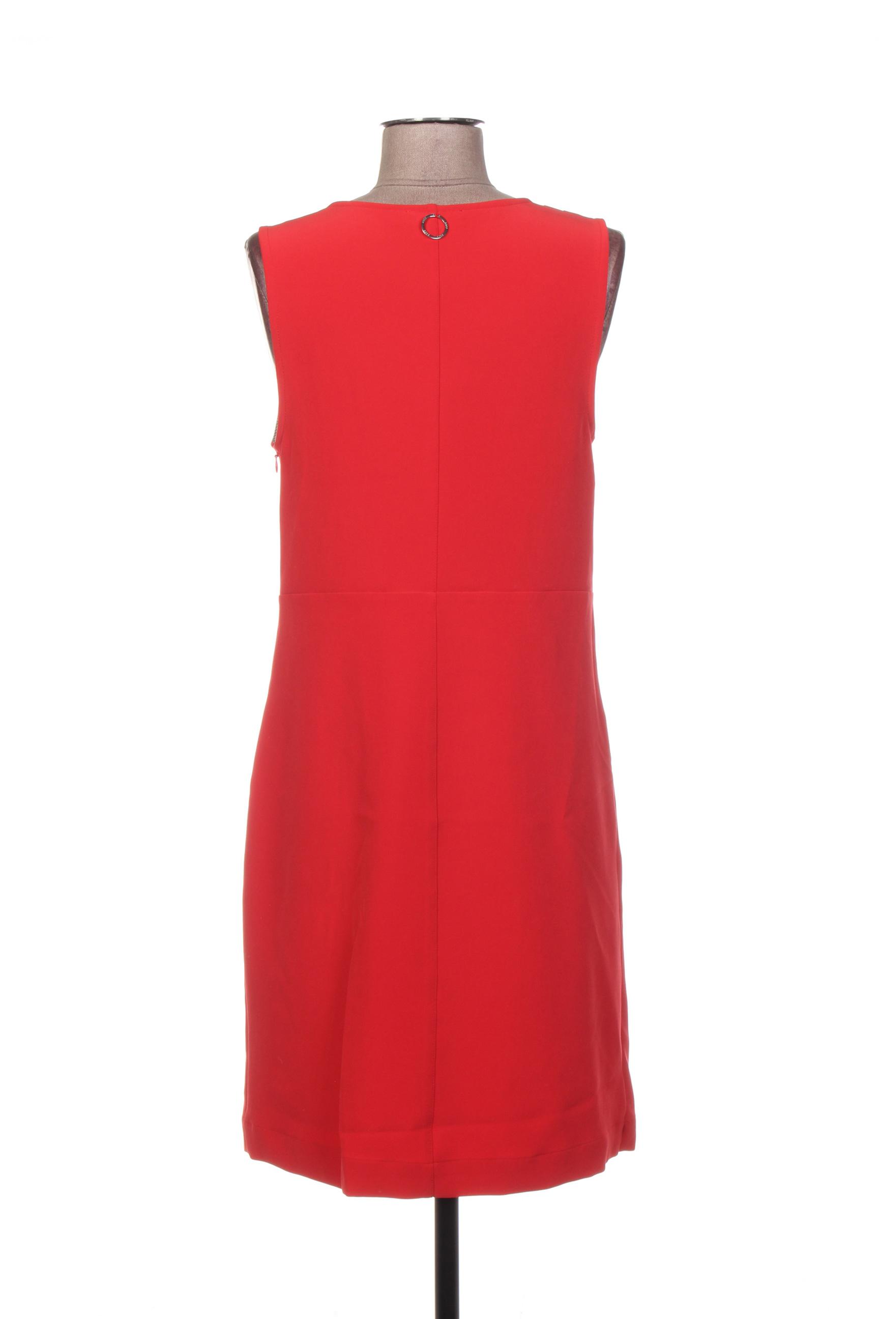3322 Robes Courtes Femme De Couleur Rouge En Soldes Pas Cher 1373014-rouge0