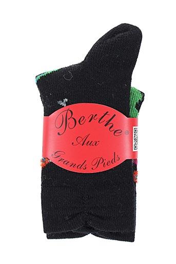 Chaussettes noir BERTHE AUX GRANDS PIEDS pour enfant