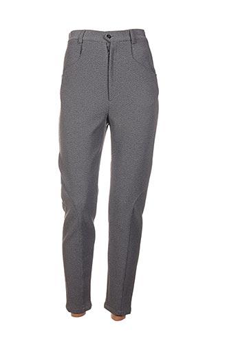 Pantalon 7/8 gris FRANCOIS DEGASNES pour femme