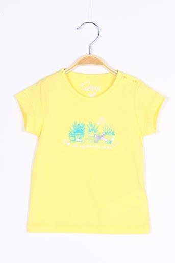 T-shirt manches courtes jaune LOSAN pour fille