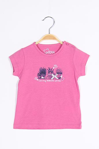 T-shirt manches courtes rose LOSAN pour fille