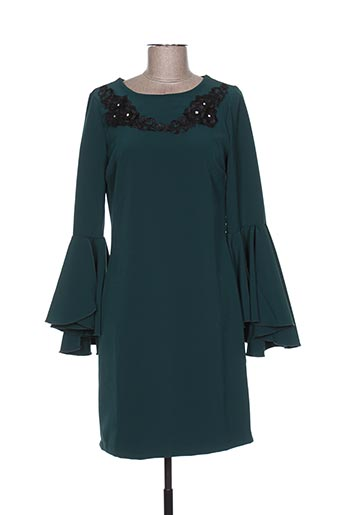 Robe courte vert BLU IN pour femme