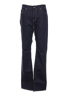 Jeans coupe droite bleu GRIFFE NOIRE pour homme