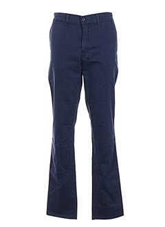 Pantalon casual bleu GRIFFE NOIRE pour homme