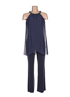 Combi-pantalon bleu VERA MONT pour femme
