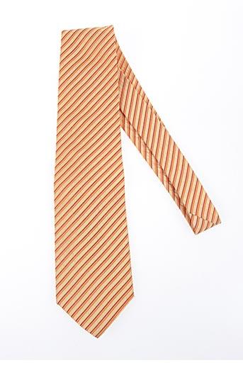 Cravate orange DANIEL HECHTER pour homme